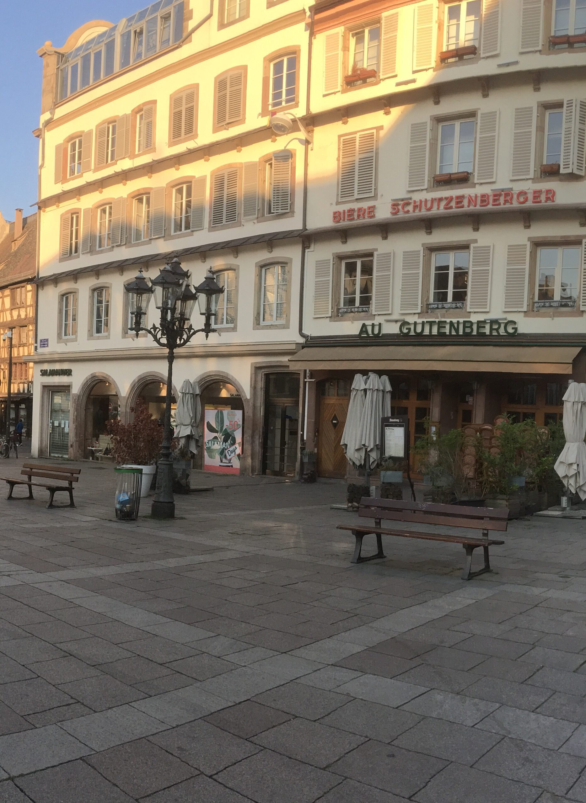Market square in France