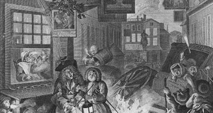 The Four Times of Day by William Hogarth
