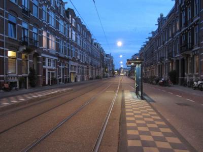midnight tram stop