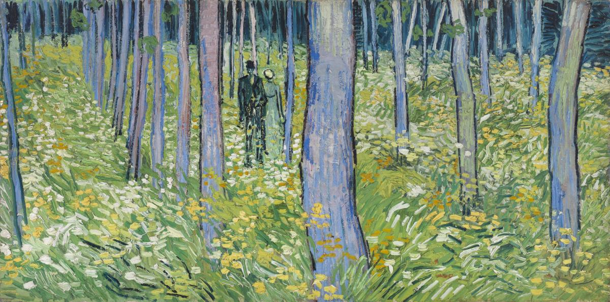 Van gogh forest painting