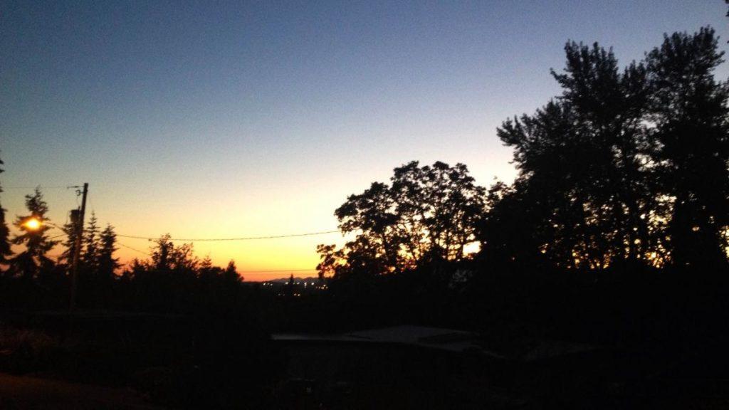 South Eugene Dawn, Summer Solstice