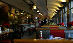 Nearly empty diner