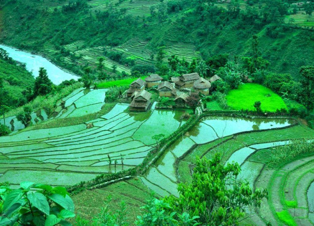 nepal hill village