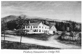 Drawing of a homestead