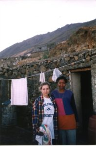 Eleanor Stanford and another woman in Cape Verde