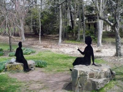 Statues on rocks