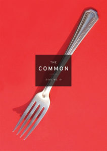 cover of Issue 1, showing a fork on a red background