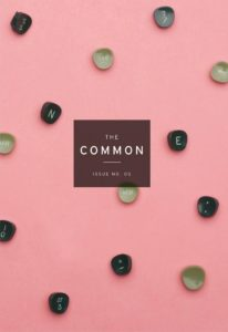 cover of Issue 5, showing old typewriter key letters scattered on a pink surface