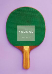 cover of Issue 6, showing a ping-pong paddle on a pale purple background