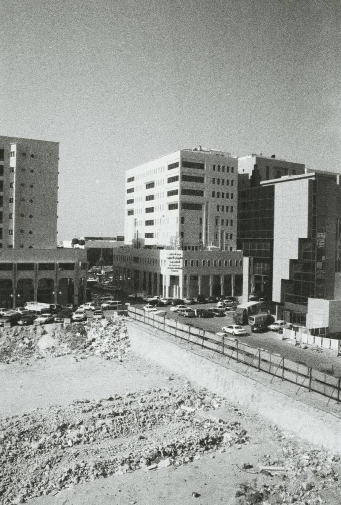 A construction site in Riyadh's central business district.