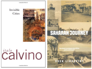 """""""Invisible Cities"""" and """"Saharan Journey"""" book covers"""