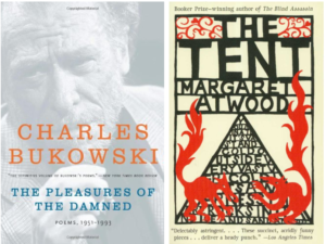 """""""The Pleasures of the Damned"""" and """"The Tent"""" book covers"""