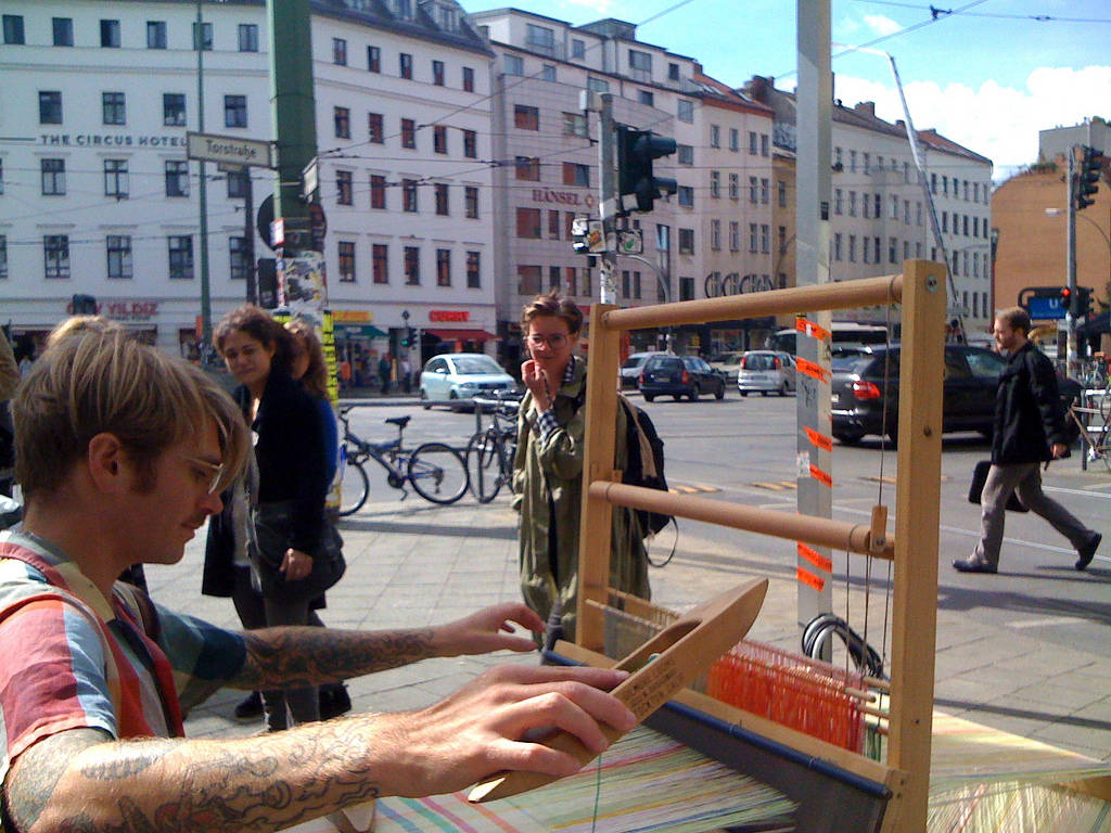 The Action Weaver on the streets of Berlin, 2010