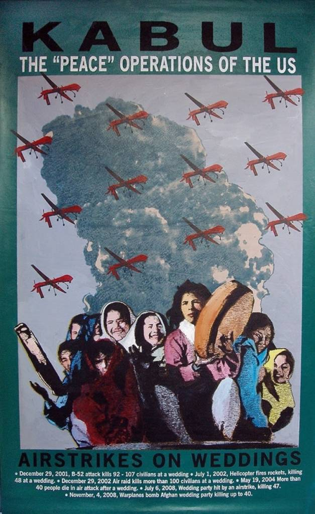Poster of people with airplanes overhead