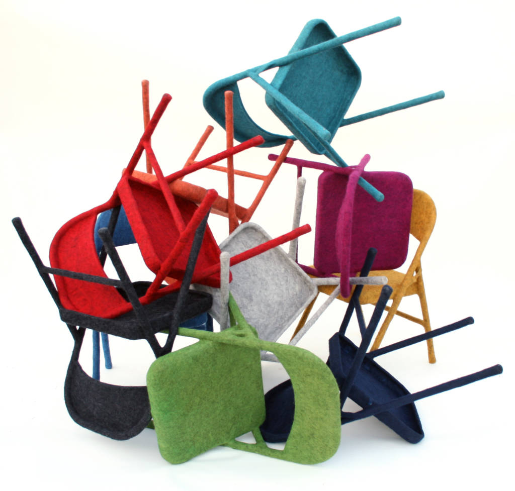 scattered felt chairs