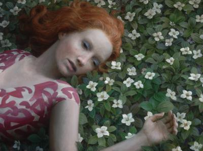 Flowerbed painting