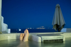 View from a rooftop hot tub