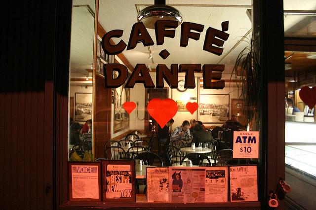 Caffé Dante in Greenwich Village