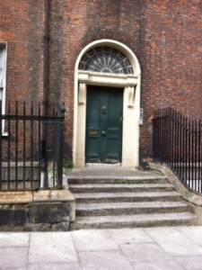 Front door in Dublin