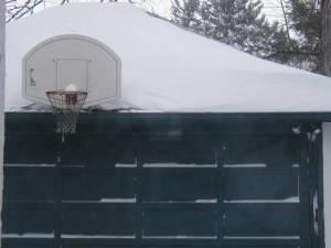 Basketball hoop in Providence