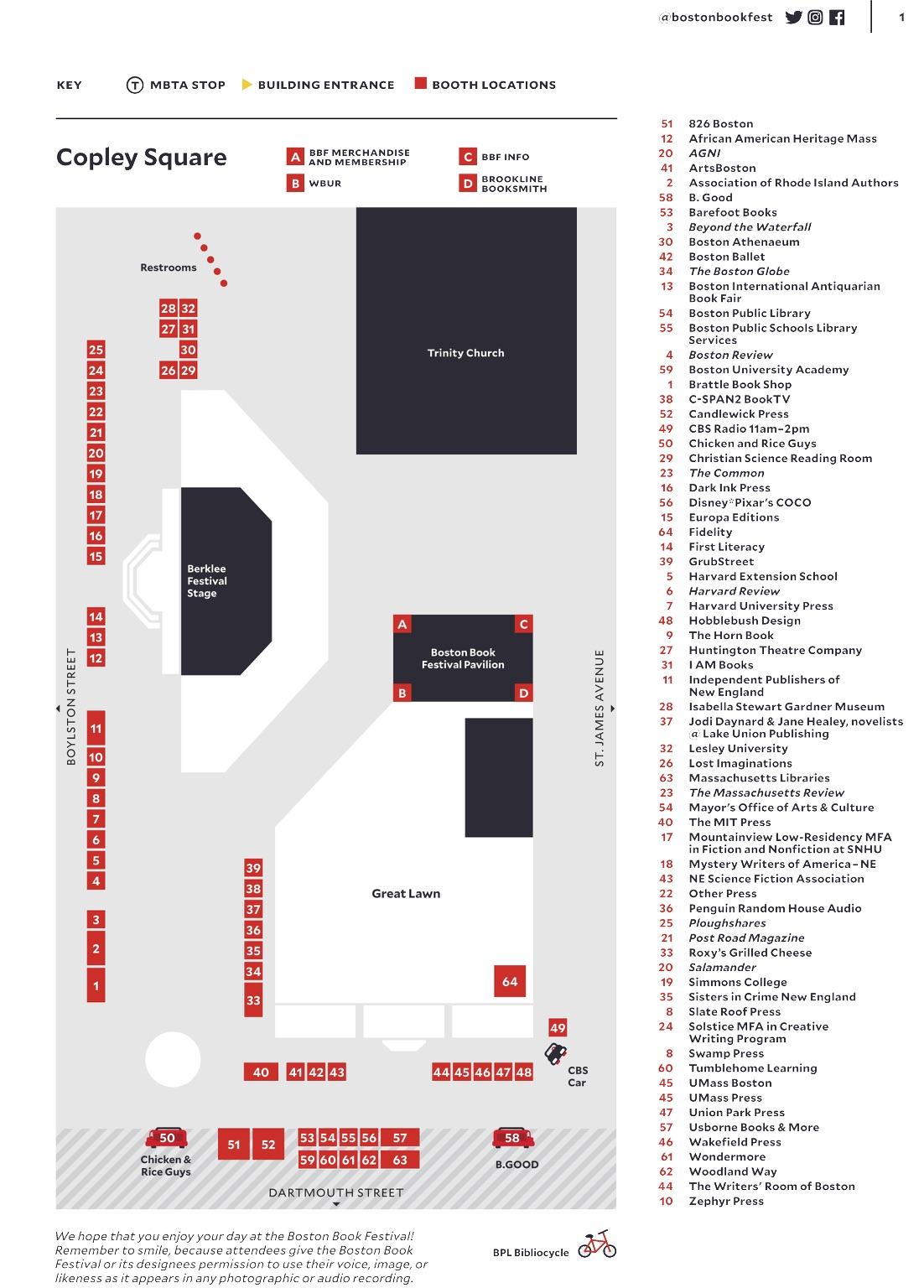 Boston book festival map