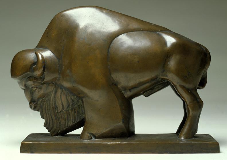 bronze buffalo statue