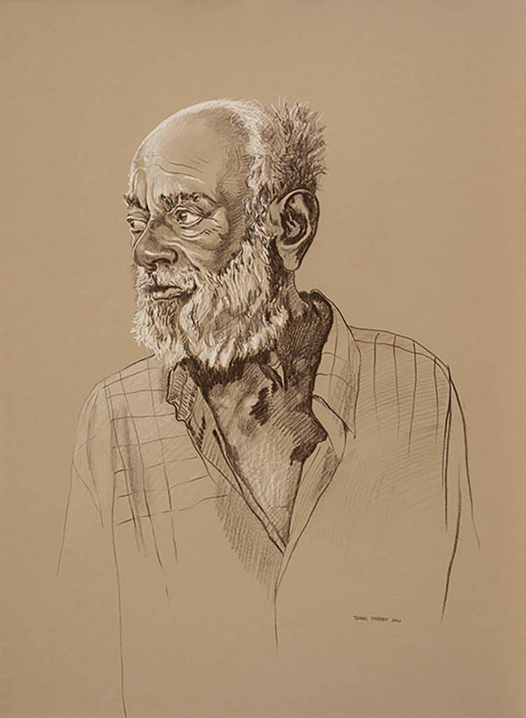 Sketch of old man