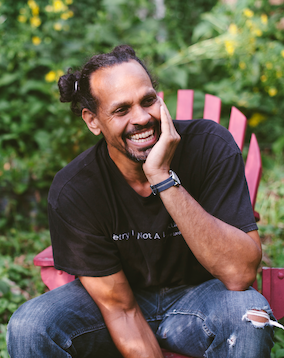 Cropped photo of Ross Gay