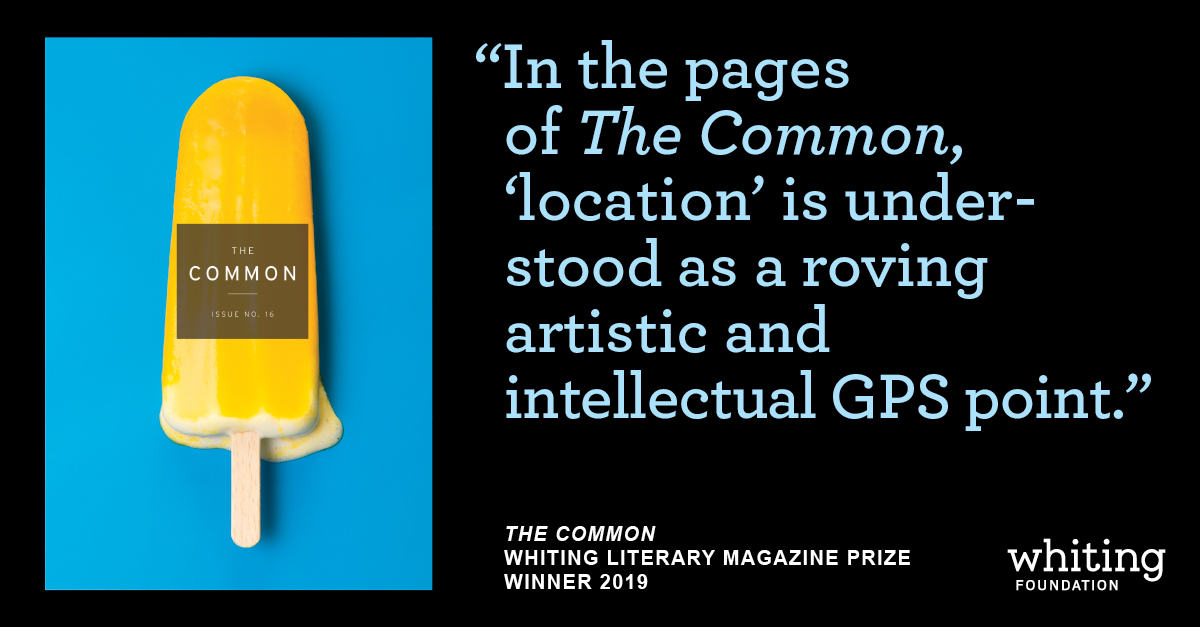 The Common Receives Whiting Literary Magazine Prize
