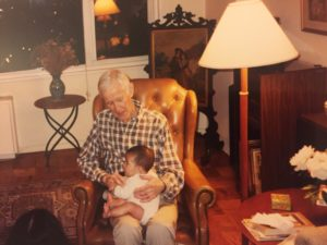The author and her grandfather