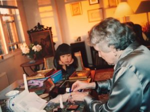 The author and her grandmother