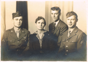 Image of family in uniforms