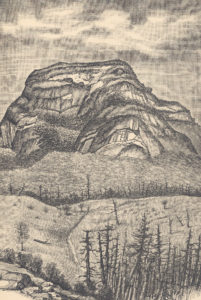 Image of a drawing of a mountain