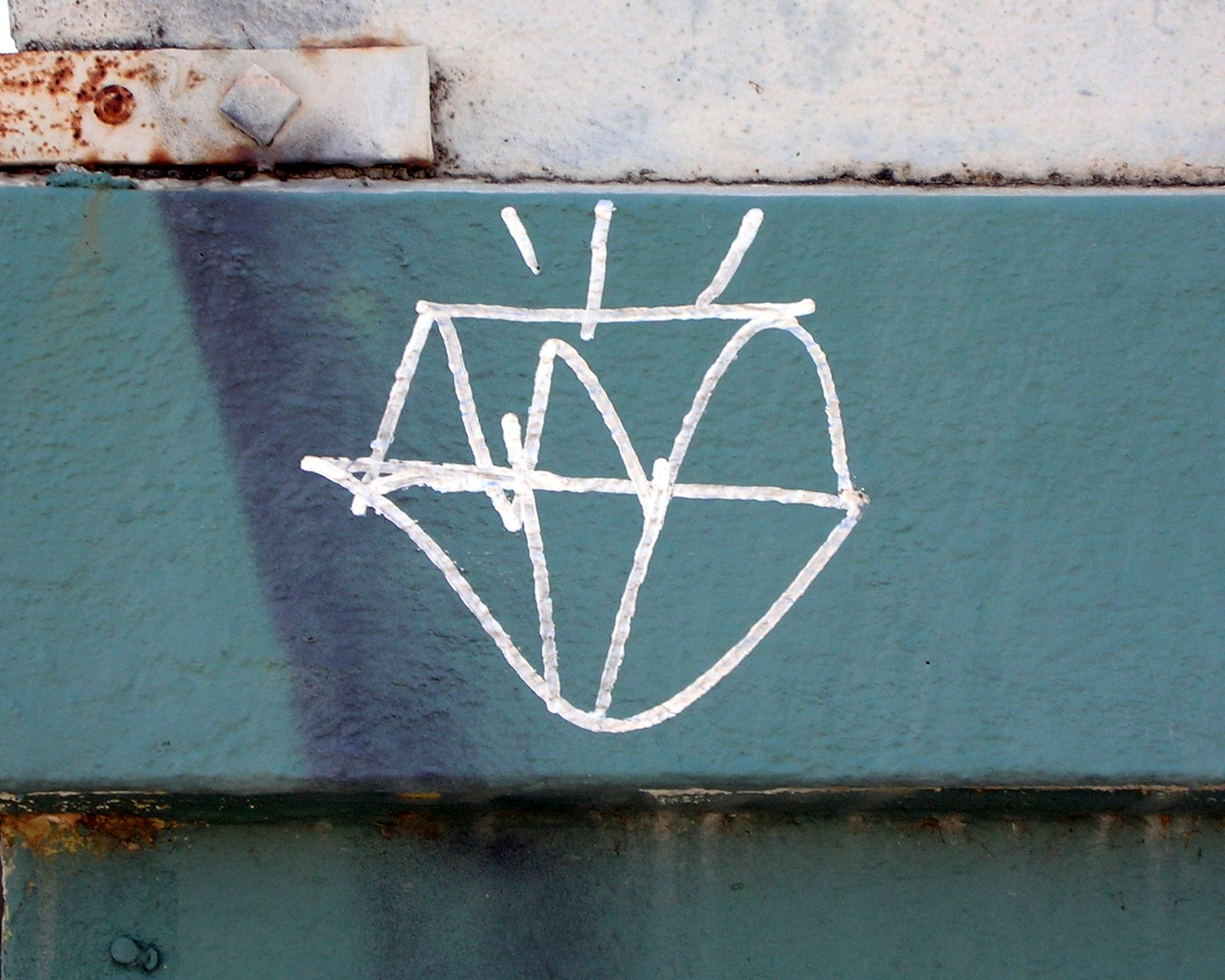 Graffitied diamond