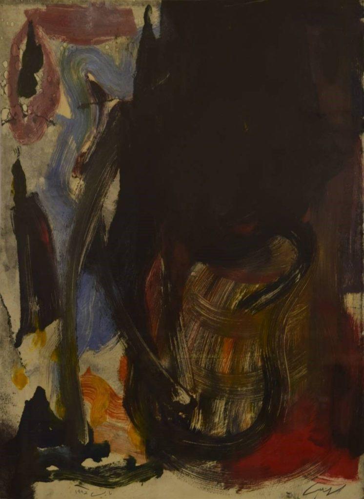 Moh'd Omar Khalil, Untitled (1992), 56× 75 cm, Oil on Paper