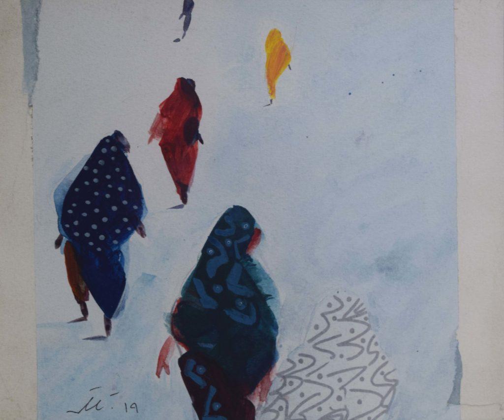 Rashid Diab, Untitled, 25x 30 cm, Acrylic on Paper