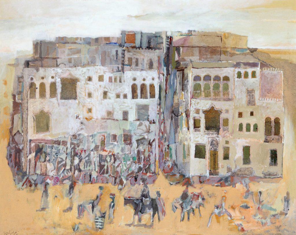 Taj Al Ser Ahmad, Untitled (1998), 50x 63cm, Oil on Board