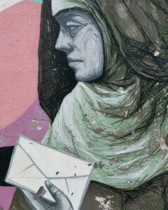 Image of street art portraying Mariana.