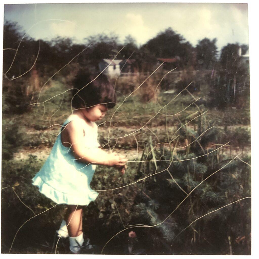 Girl in a garden
