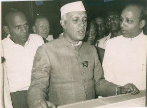 Image of C.H. Krishnan reporting.