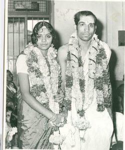 Image of marriage of Rajeswari Krishnan and K.H. Shankar