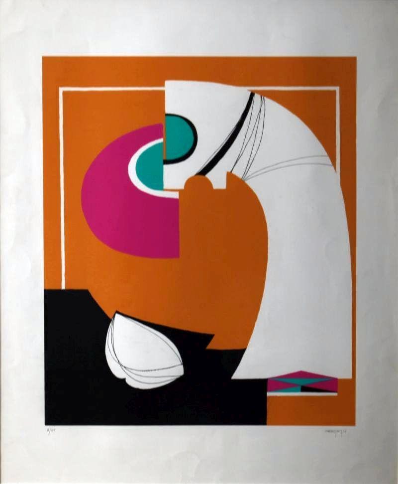 Mohammad Al Qasemi, Untitled  Silkscreen on Paper (60 x 80 cm)