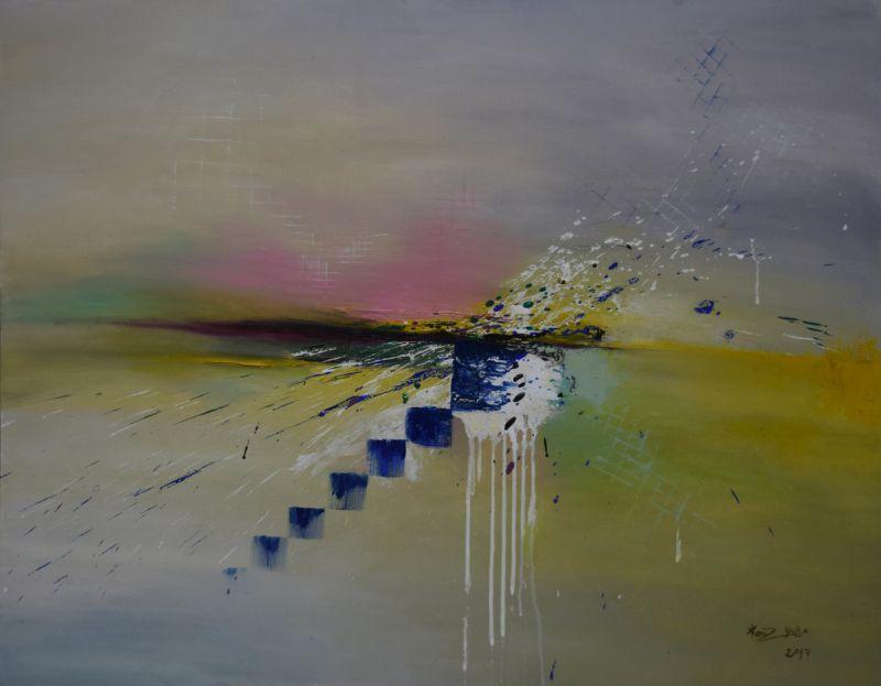 Kenza Aqel, Untitled (2017) Acrylic on Canvas (100 x 80 cm)