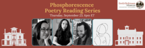 Phosphorescence Reading Series Banner With Poets' Headshots.