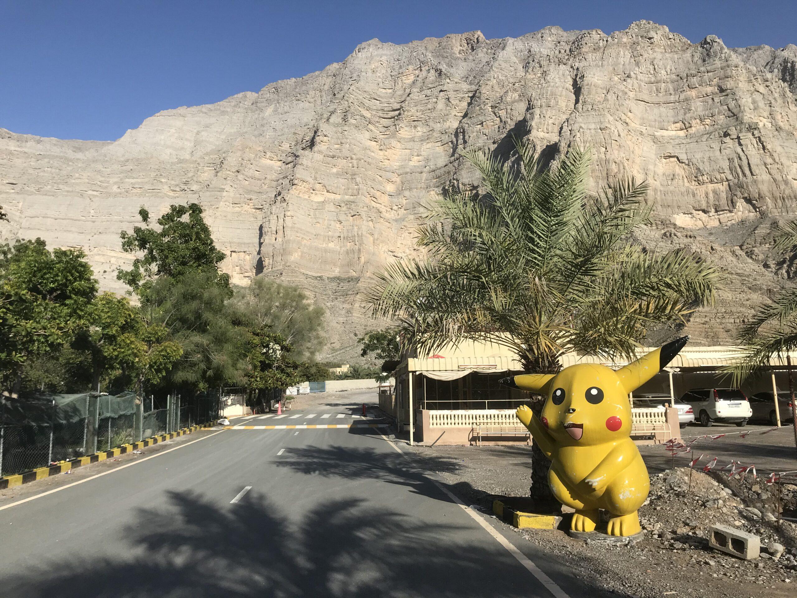 Statue of Pokemon character,Pikachu