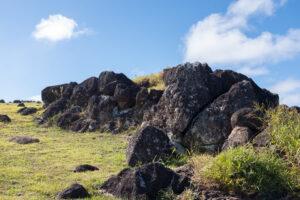 Image of fields and rocks on Rapa Nui.